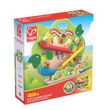 Hape 3821 Nutty Squirrel Railway Play set for Toddler 18 months