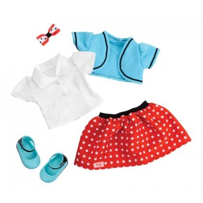 OG Polka Dot Skirt & Shrug Outfit
