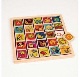 B. Magnetic Alphabet Puzzle
