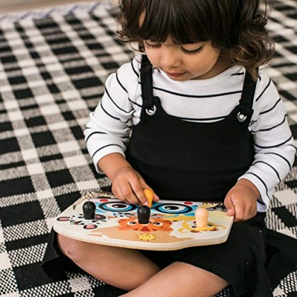 Hape 11654 Baby Einstein Friendly Safari Faces Wooden Puzzle