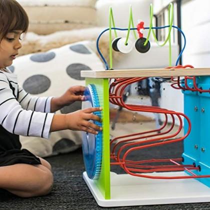 Baby Einstein 11656 Innovation Station Wooden Activity Cube