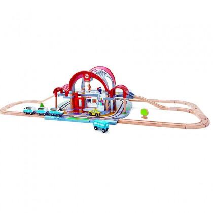 Hape 3725 Grand City Station Railway Playset