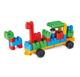 PolyM Zoo Keeper 'n' Cars Building Blocks Starter Set