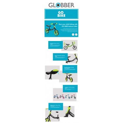 Globber 610110 Go Bike - Balance Bike Neon Pink