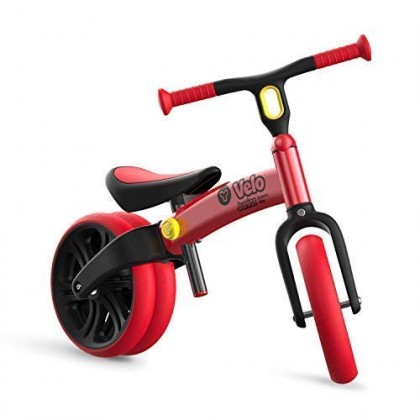 Yvolution Y Velo Junior No-Pedal Balance Bike for Kids (Blue/Red)