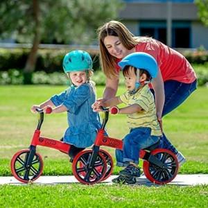 Yvolution Y Velo Junior No-Pedal Balance Bike for Kids (Blue/Red)