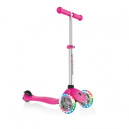 Globber 423110 Primo Lights Scooter -Neon Pink