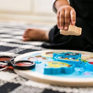 Baby Einstein Submarine Adventure Wooden Puzzle Toddler Toy