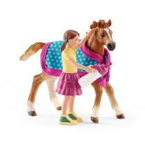 Schleich Foal with Blanket Playset