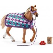 Schleich English Thoroughbred with Blanket Playset