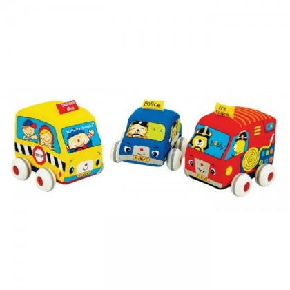 K's Kids Assorted Pull Back Autos (3 pcs pack)