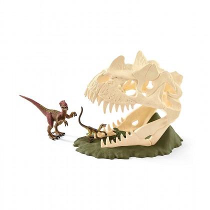 Schleich  Large Skull Trap with Velociraptor
