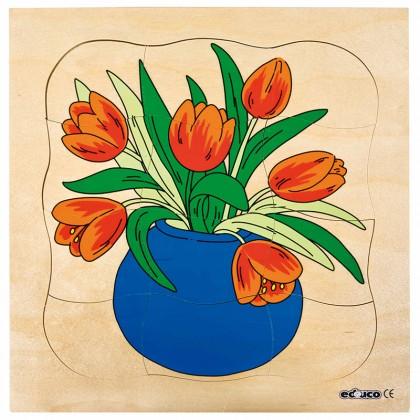 Educo Tulip Layer-Puzzle