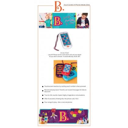 B. Toys 1697 Touch Screen Hi Phone - Metalic Silver