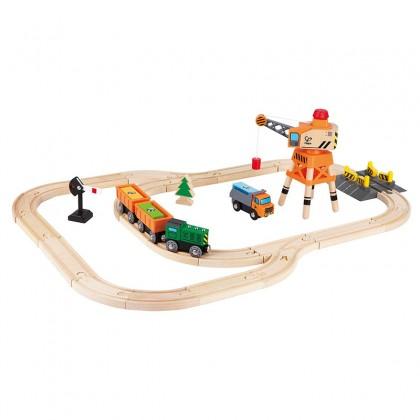 Hape Crane & Cargo Railway Playset