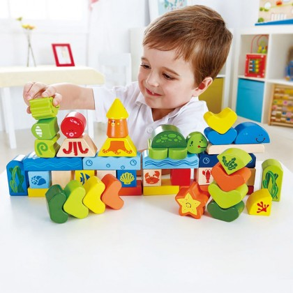 Hape 0432 Under The Sea Blocks for Toddler 24 months+