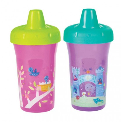 TFY USA BPA-Free Simply Sippy Stackable Cup (2pcs) 9oz for Toddler 9 months+ Girl
