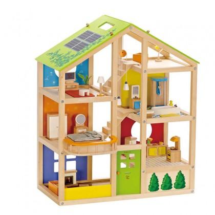 Hape 3401 All Season House (furnished) for kids age 3+