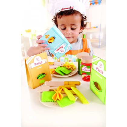 Hape 3125 Pasta Set Kitchen Role Play Toy for Kids age 3+