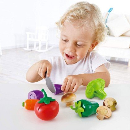 Hape 3161 Garden Vegetables for Kitchen Role Play for Kids age 3+
