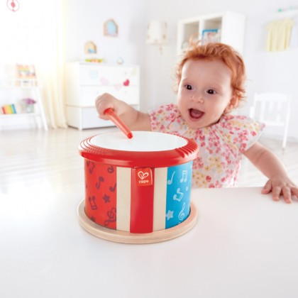 Hape 0608 Double Sided Drum Musical Toy for Toddler 12 month+ FREE (HP0605)