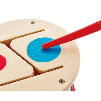 Hape 0608 Double Sided Drum Musical Toy for Toddler 12 month+