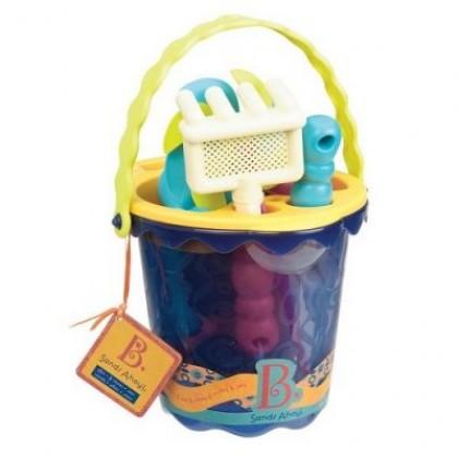 B. Toys Medium Bucket Set Blue