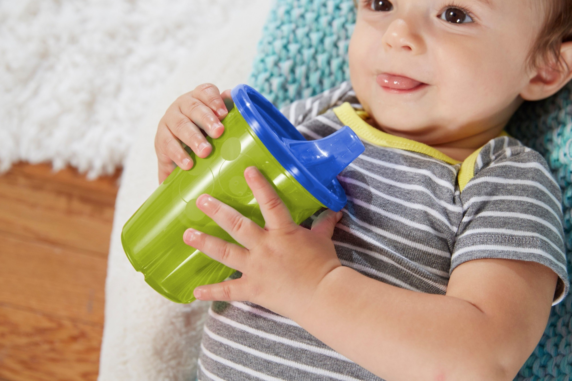 TFY USA BPA-Free Take & Toss 4 Sippy Cups for toddler age 9