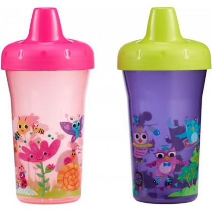 The First Year BPA-Free Simply Sippy Stackable Cup for Toddler age 9 months+ 9oz - 2pk (purple/pink)