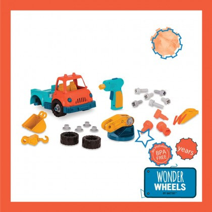 Wonder Wheels 1011 Take-apart Crane Truck for Toddler 3+