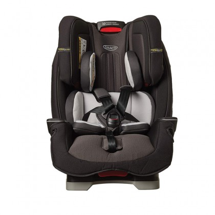 Graco Milestone LX All-in-One Car Seat Featuring Safety Surround Side Impact Protection, Group 0+/1/2/3, Midnight Grey
