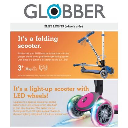 Globber 444400 Elite Deluxe Light Scooter for kids 3y up to 50 kg - Navy Blue