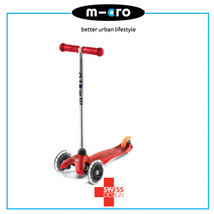 Micro Mini Classic Red LED, Swiss Designed for Preschool age 2 to 5 years old