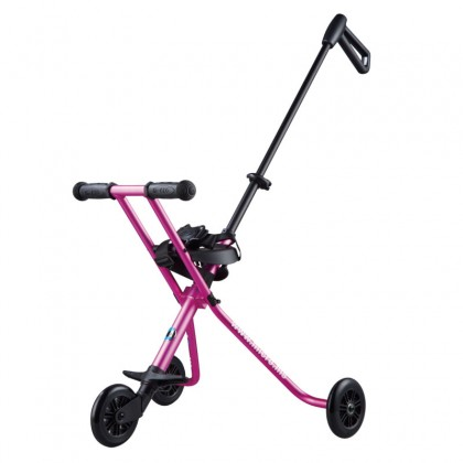 Micro 0004 Portable Light weight foldable Trike Deluxe Pink with seatbelt