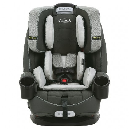 GRACO 8AH100TNE 4ever All-in-1 Car Seat fea. safety surround with Quick Remove Fabric ~Tone