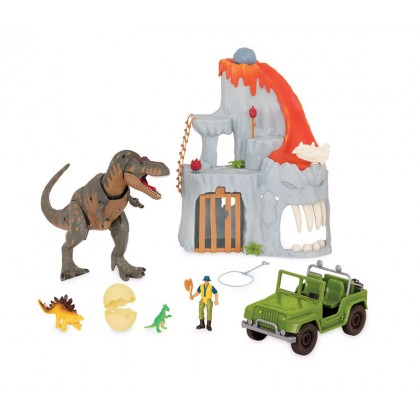TERRA - Lava Mountain T-Rex Adventure Electronic Playset (14pc)
