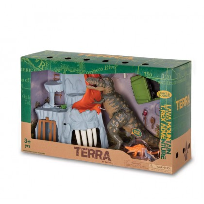 TERRA - Lava Mountain T-Rex Adventure Electronic Playset (14pc)