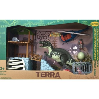 TERRA-Electronic Acrocanthosaurus Jungle Tower Playset (13 pc)