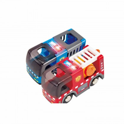Hape 3736 Emergency Services HQ Railway Play set for Kids age 3+