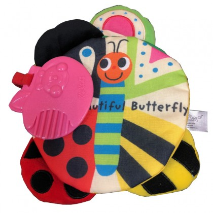 Read n Play 50344 One Beautiful Butterfly Soft Book for Baby 6 month+