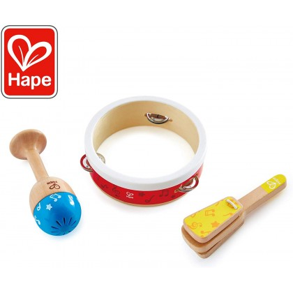 Hape 0615 Junior Percussion Set Music Toy for Toddler 12 moth+