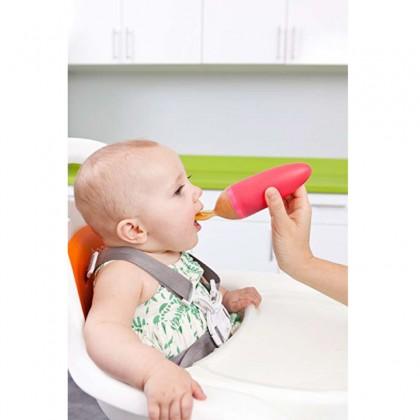 BOON Squirt Baby Food Dispensing Spoon - Orange