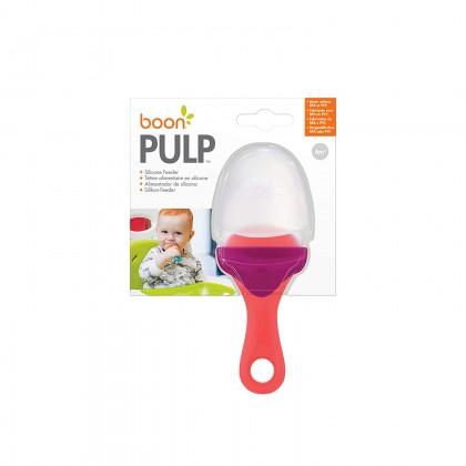 BOON Pulp Silicone Feeder- Coral/Purple