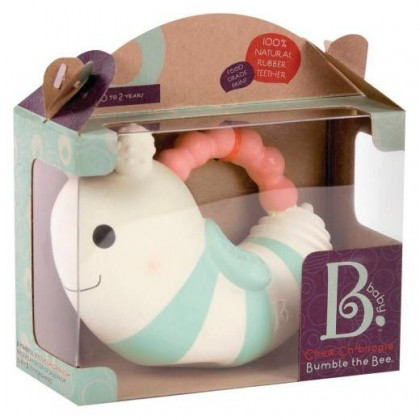 B. Toys 1456 Bumble Natural Rubber B Teether for newborn +
