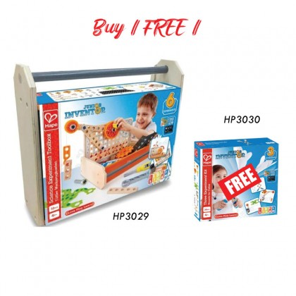 Hape 3029 Science Experiment Toolbox STEM Toy for Kids age 4 years + FREE (HP3030)
