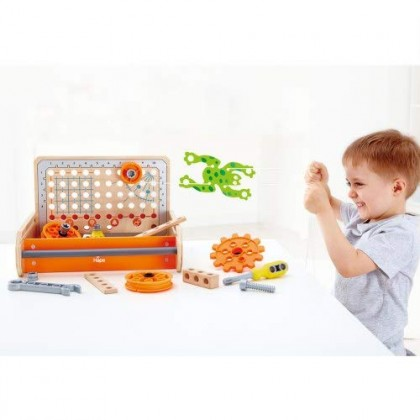 Hape 3029 Science Experiment Toolbox STEM Toy for Kids age 4 years +