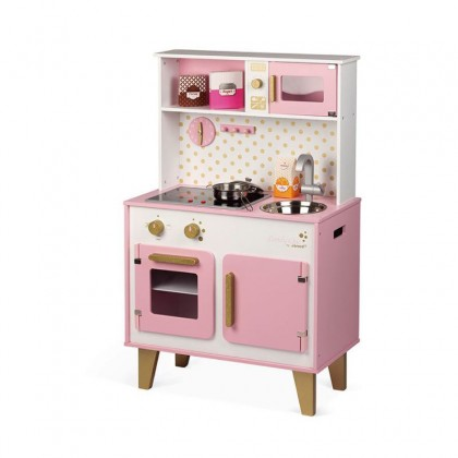 Janod Candy Chic Big Cooker + FREE JANOD 24 PCS FRUITS & VEGETABLES BASKET(J05620)