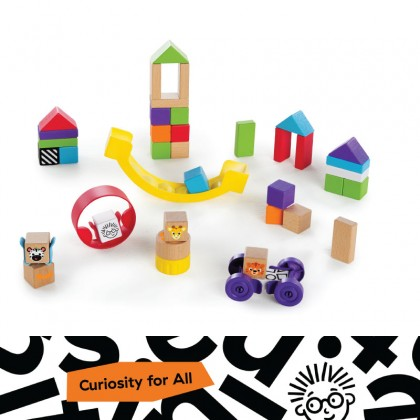 Hape 11873 X Baby Einstein Curious Creator Kit Wooden Discovery Toy, 12 Months +