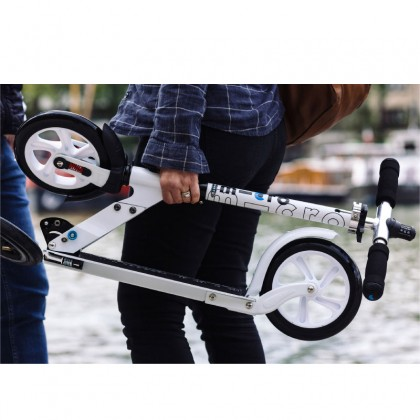 Micro White Interlock Theft Proof Adult Scooter with Integrated locking system included