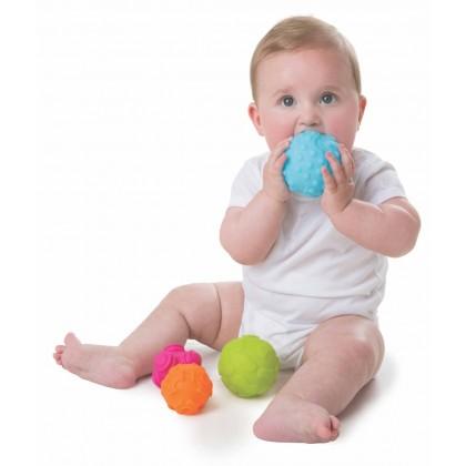Playgro 4087682 Textured Sensory Balls - 4-piece